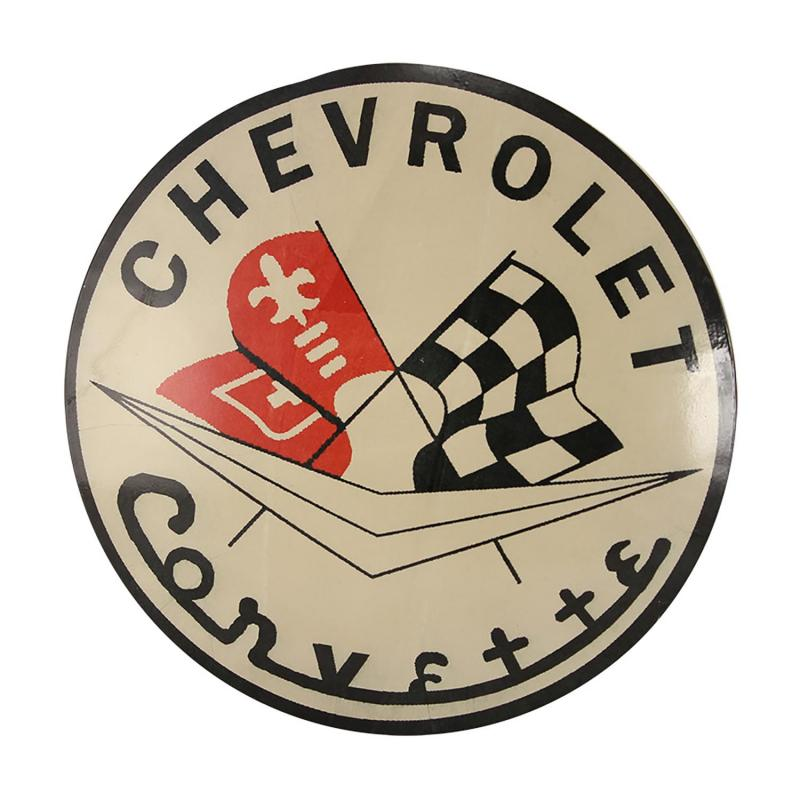 Plåtskylt retro i industristil - Chevrolet corvette