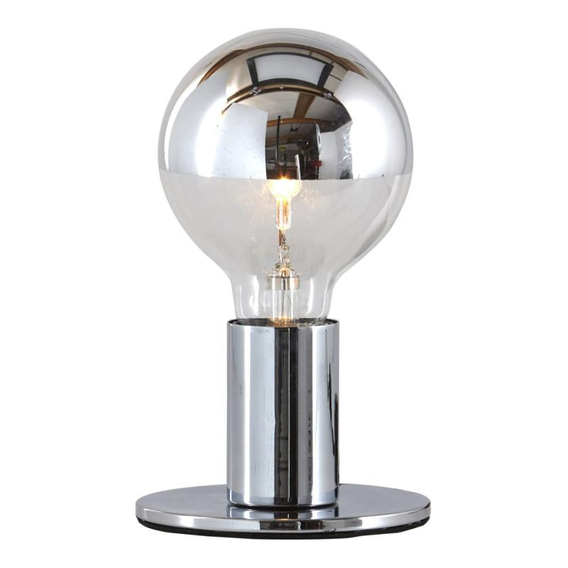 POPP - lampfäste med glödlampa i spegelglas