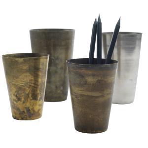 Recycled mango-lassi bägare - vintage muggar i metall