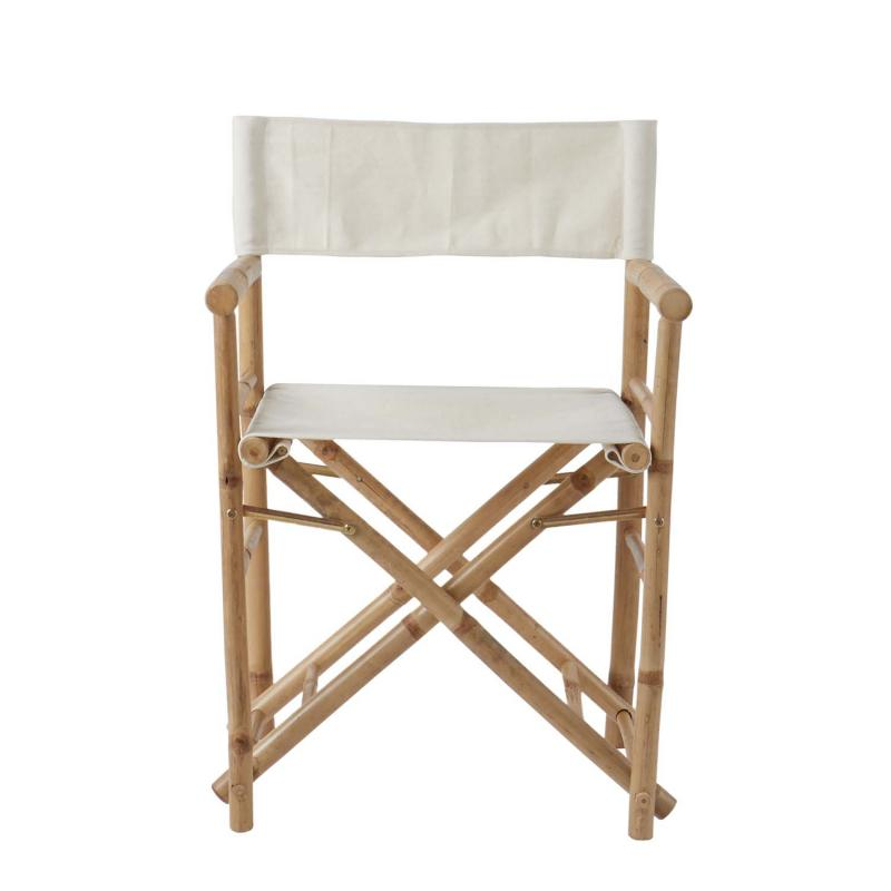 Möbelgrupp i bambu - 4 regissörstolar + bord