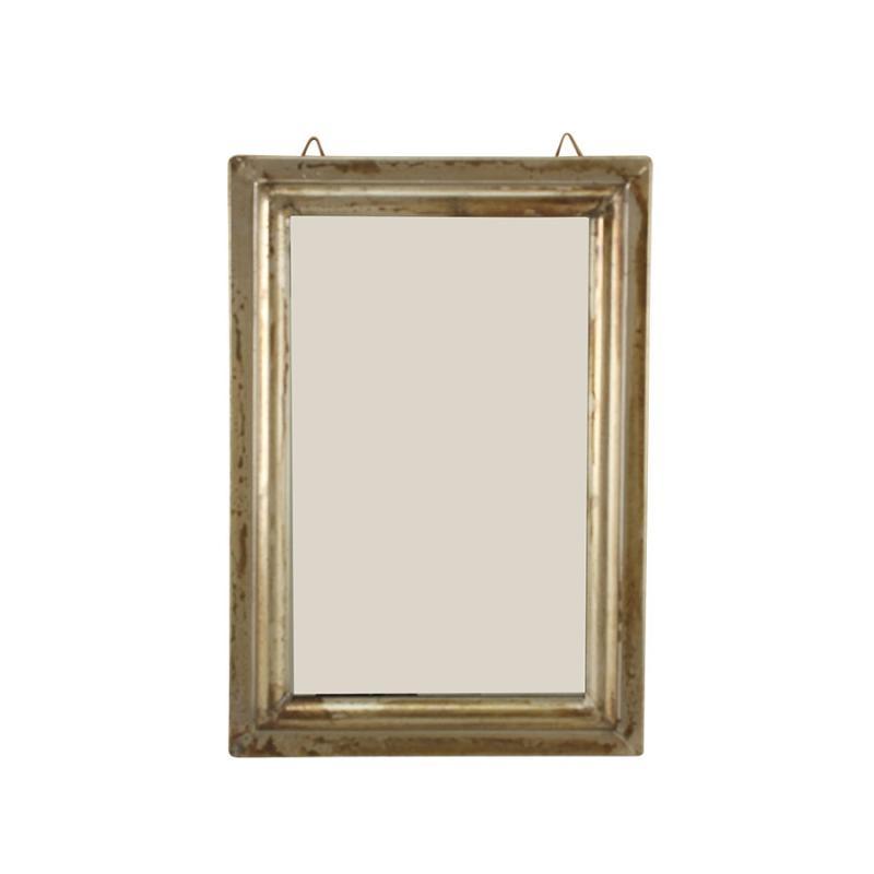 Minispegel med metallram - etikett för paket