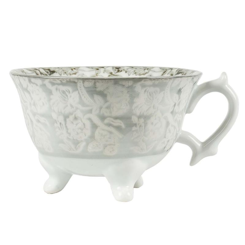 Kaffekopp Rose - kopp i grått med fötter