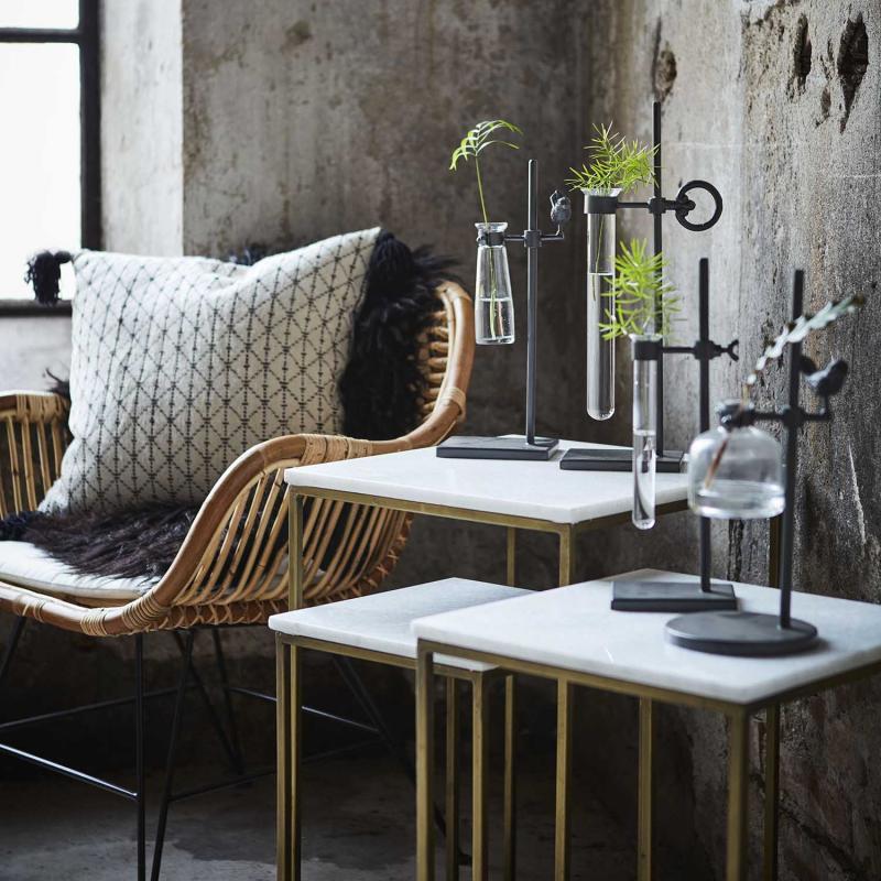 MILAN satsbord med marmorskiva - soffbord x 3