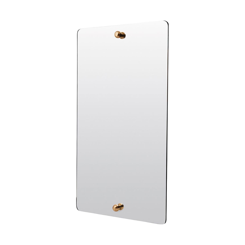 Spegel rektangulär FRAMELESS elegant utan ram , Ramlös spegel med mässingsdetaljer