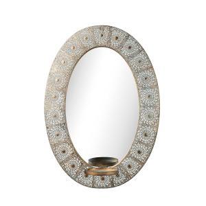 Esmeralda spegel i genombruten metall - spegellampett
