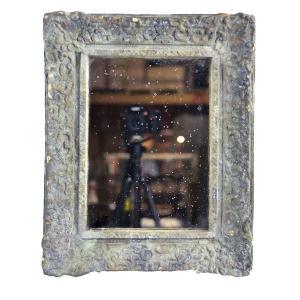 Spegel shabby chic med ordentlig patina