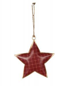 röd julstjärna i metall