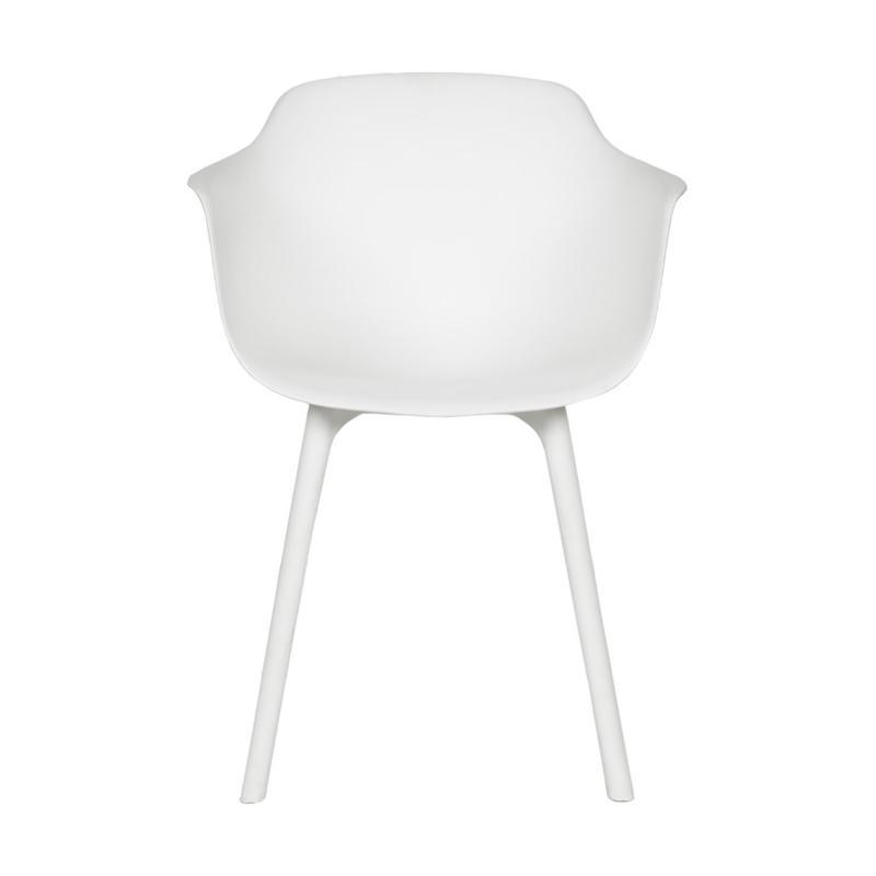 vit modern plaststol framifrån