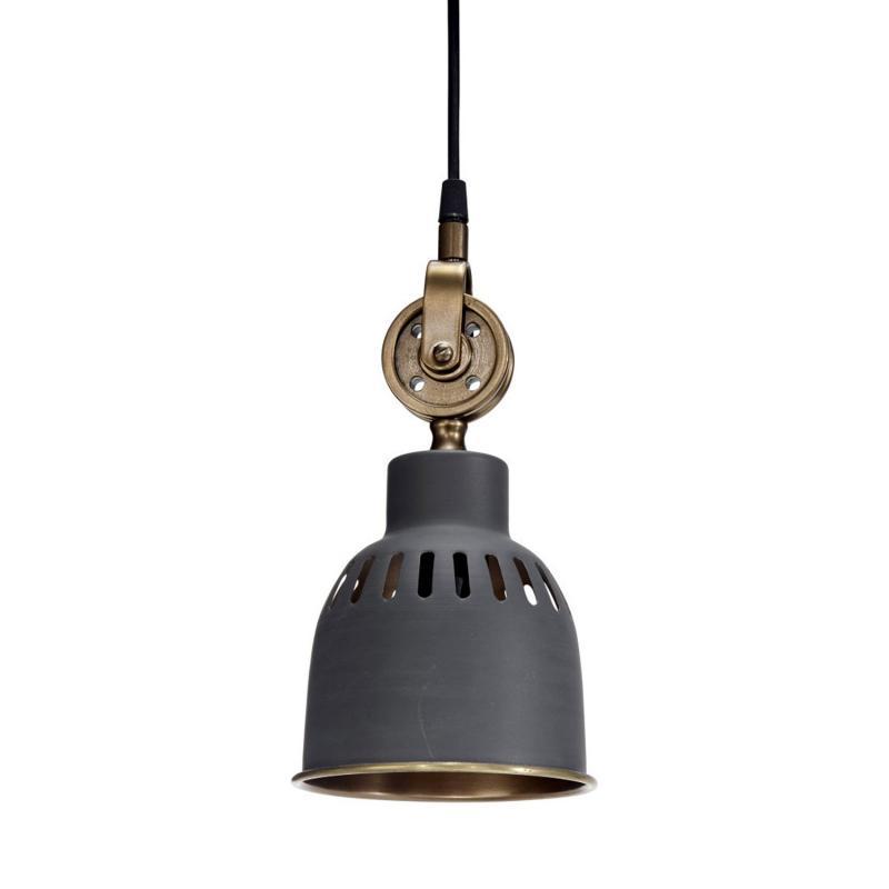 mörkgrå industrilampa – taklampa