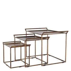 Satsbord i set om 3 - soffbord - bord  i metall
