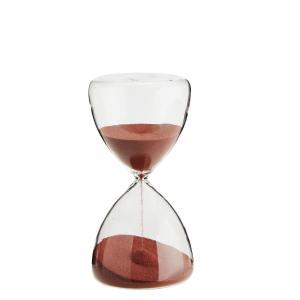 Timglas i klarglas - rinner i 15 minuter