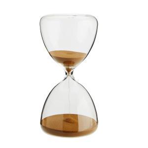 Timglas i klarglas - rinner i 30 minuter