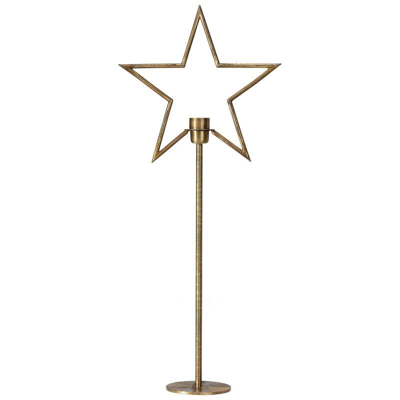 Stående adventsstjärna på fot - julstjärna  TINDRA i - 82 cm