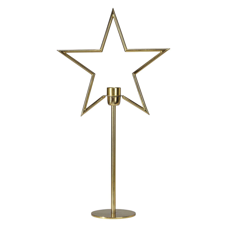 Stående adventsstjärna på fot julstjärna i metall