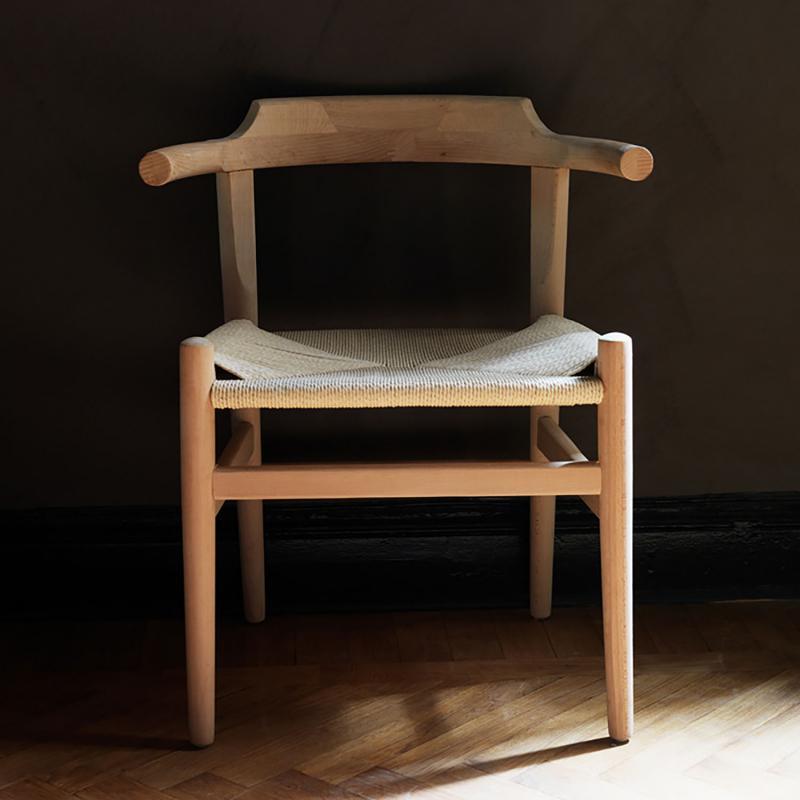 2 st Trästol med karm - karmstol i  len björk