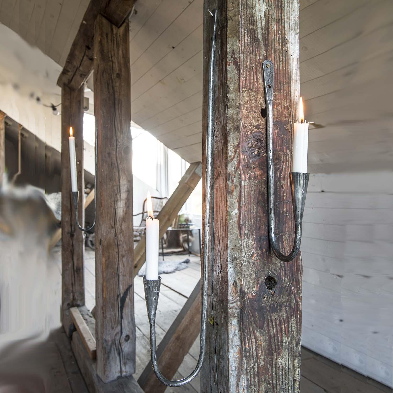 Väggljusstake i smide Thor ljusstake för vägg