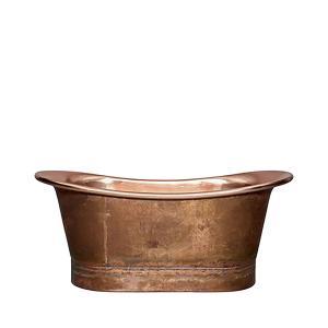 Badkar i hamrad koppar  - vintage badkar