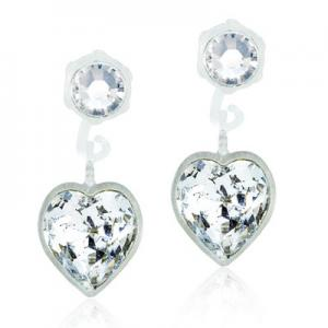 Blomdahl pendant heart crystal 4/6mm