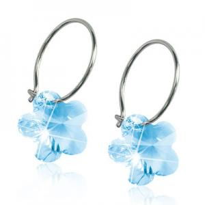Blomdahl ear ring  flower aquamarine 14mm