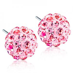 Blomdahl crystal ball light rose 8mm