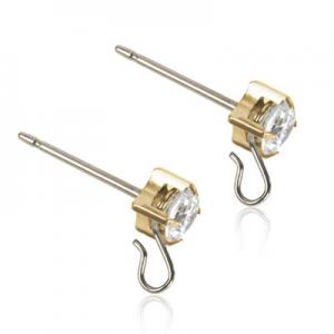 Blomdahl safety ear pin cz white