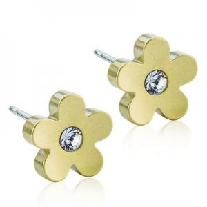 Blomdahl golden titanium flower crystal 8mm