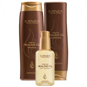 L'anza Keratin Healing Oil Trio kit