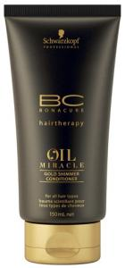 Schwarzkopf BonaCure Miracle Oil Gold Shimmer Conditioner 150ml