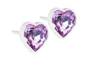 Blomdahl Medical Plastic Heart 6mm Light Amethyst