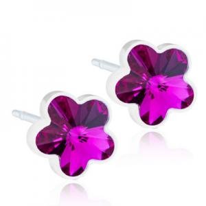 Blomdahl Medical Plastic Flower Fuchsia 6mm