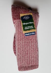 Wool Hiking Sock Raspberry