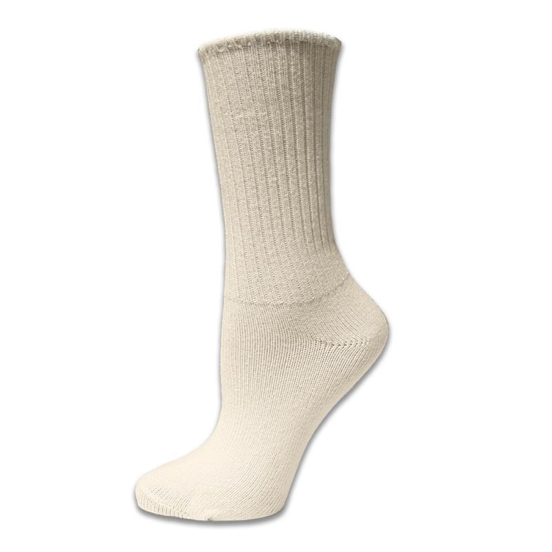 Strumpor Crew Socks Natural