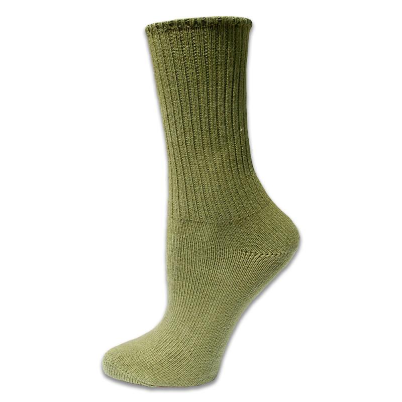 Strumpor Crew Socks Olive