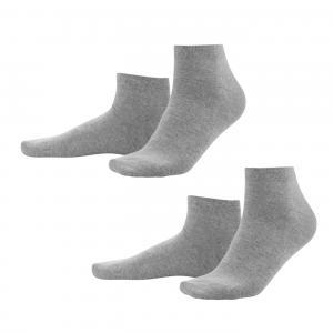 Ankelstrumpor 2-p Grey