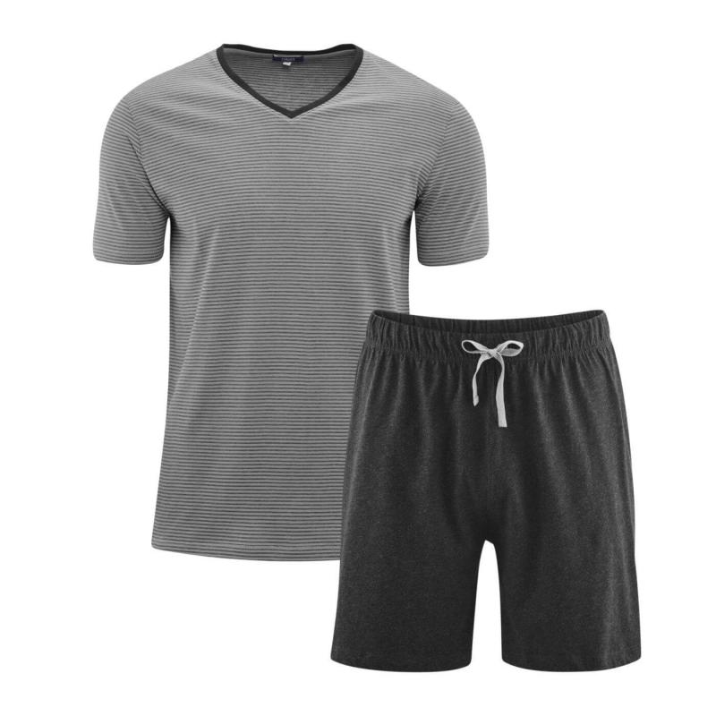 Pyjamas Kort Grey/Antracit