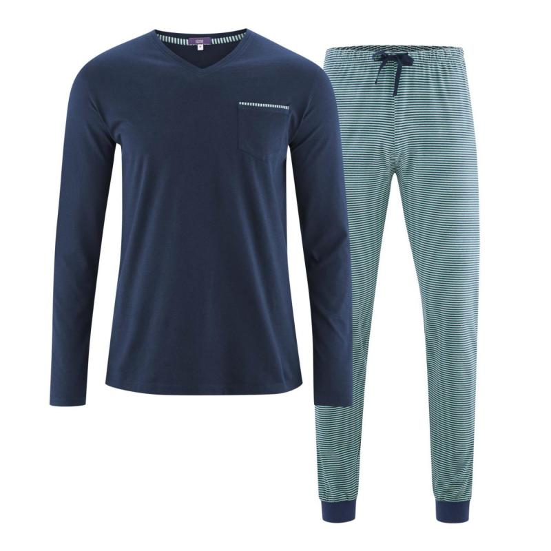 Pyjamas Herr Navy/Evergreen