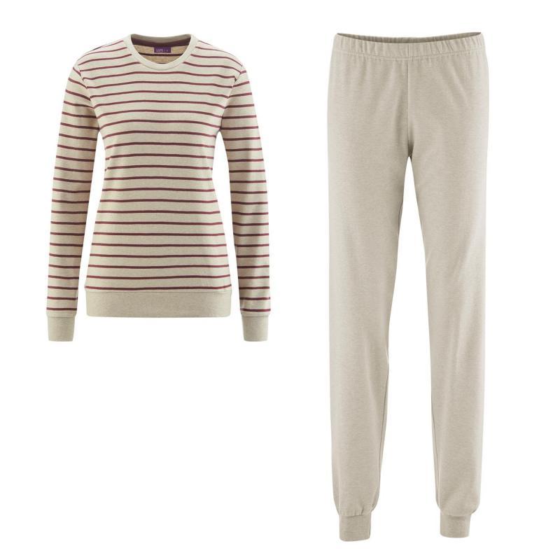 Pyjamas Dam Beige/Cranberry