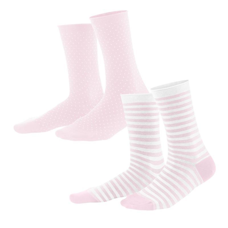 Strumpor 2-p Rosé/White