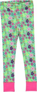 Leggings Green Flowers