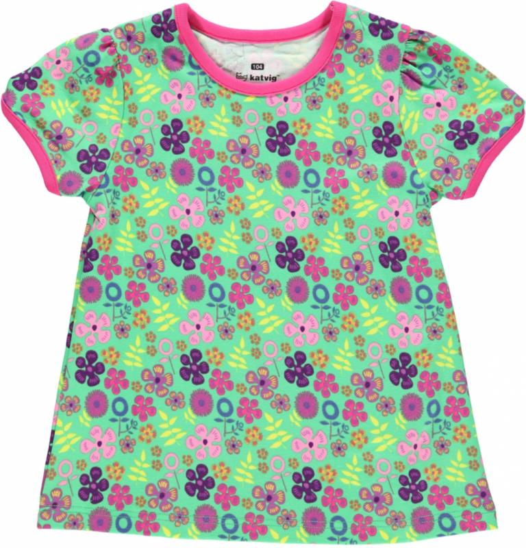 T-shirt - Green Flowers