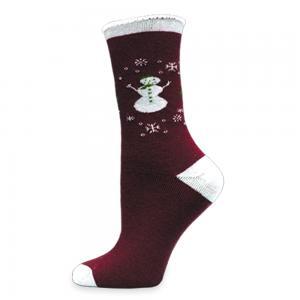Wool Holiday Sock Snowman