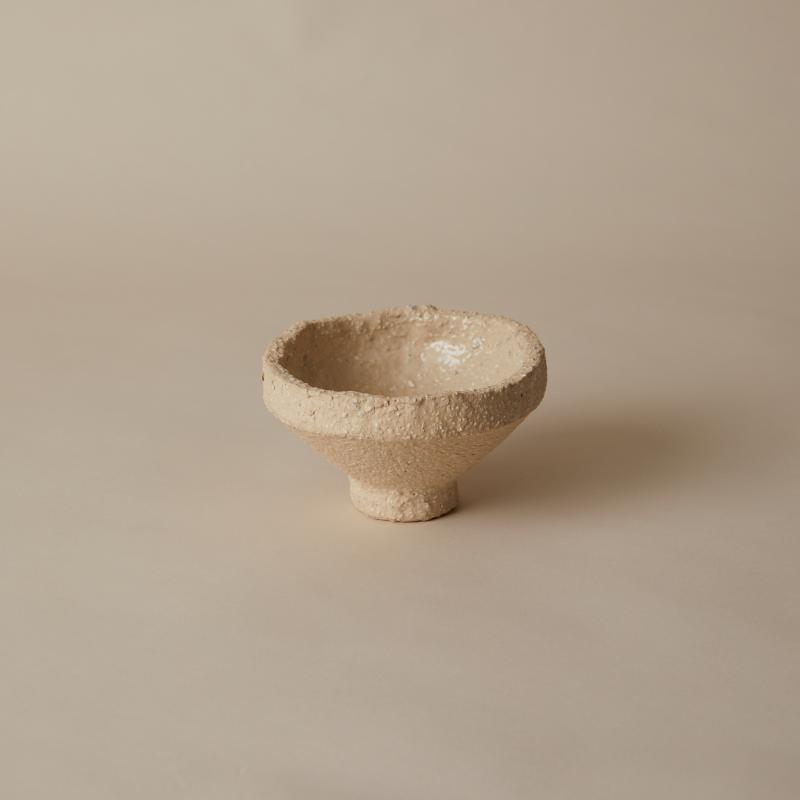 Skål, RAW vit med fot