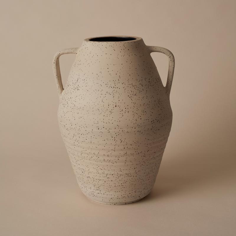 Vase exclusive, Carbon black & lava