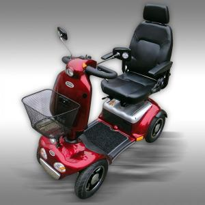 Elscooter Seniorscooter Shoprider ES-889 röd