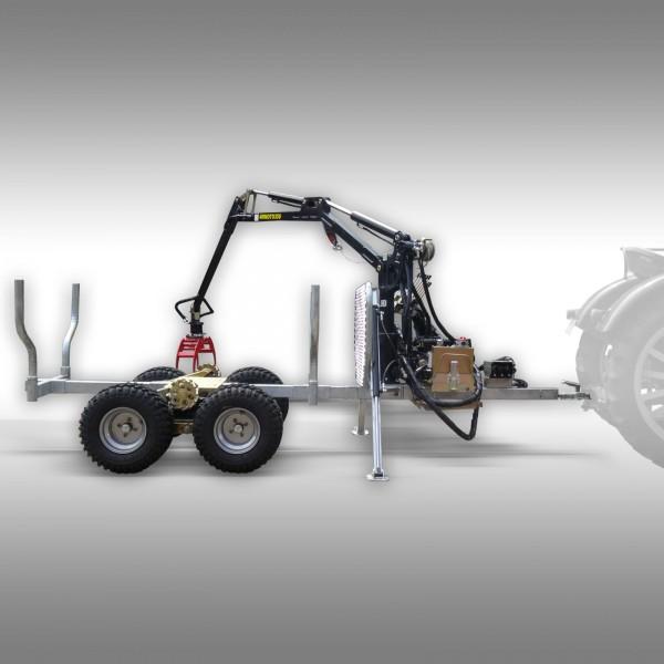 Timmervagn med kran 15-pro, galvaniserad