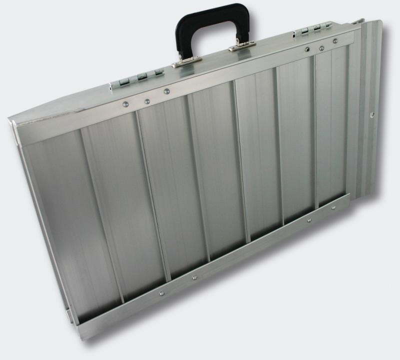 Hopfällbar rullstolsramp aluminium 90x73x5 cm