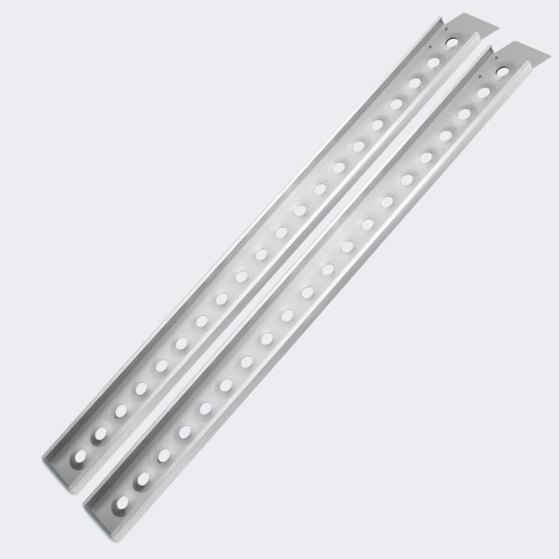 2x Uppkörningsramp aluminium 160x16,7 cm