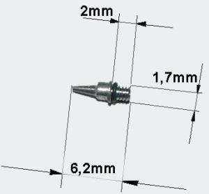 Airbrushpistol 0,3 mm munstyck nål och O-ring