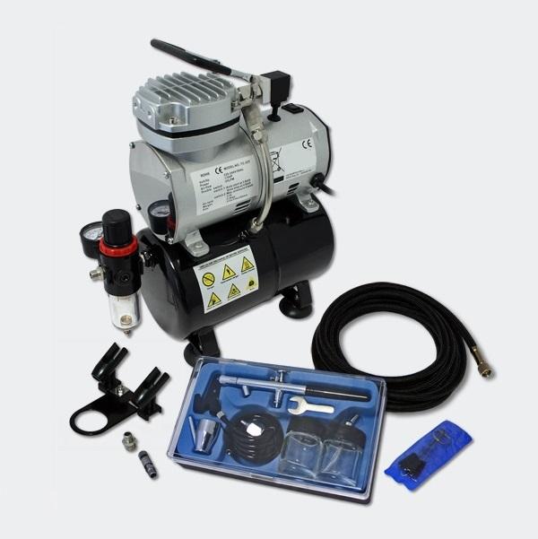 Start Airbrush kompressor Set ES189 + DA128