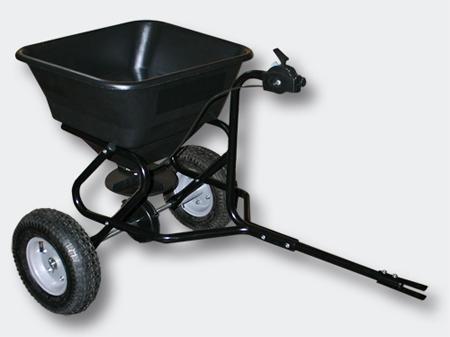 Spridare 30 kg med koppling för åkgräsklippare